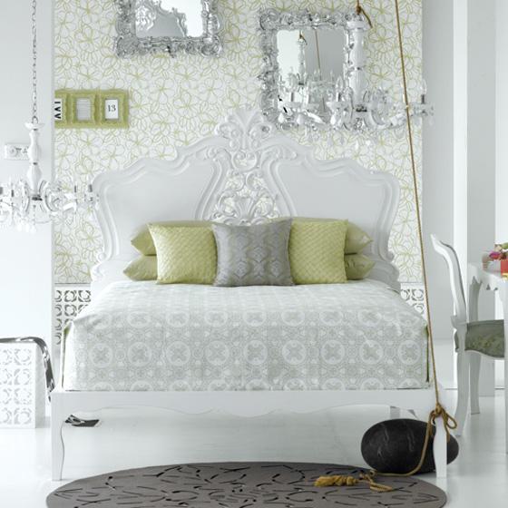 اللون الابيض شعار غرف النوم الجديده Nom6
