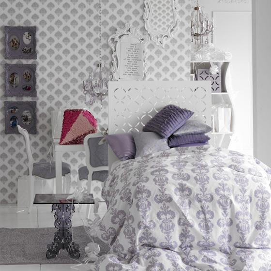 اللون الابيض شعار غرف النوم الجديده Nom8