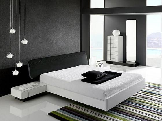 غرف نوم مودرن سوداء