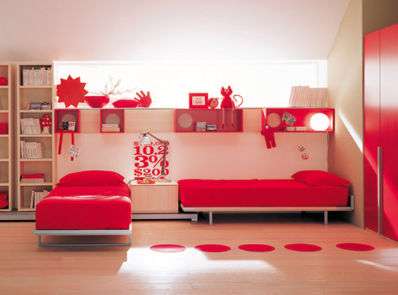 غرف نوم اطفال بالوان الصيف bed4.jpg