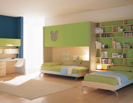 غرف نوم اطفال بالوان الصيف bed7.jpg
