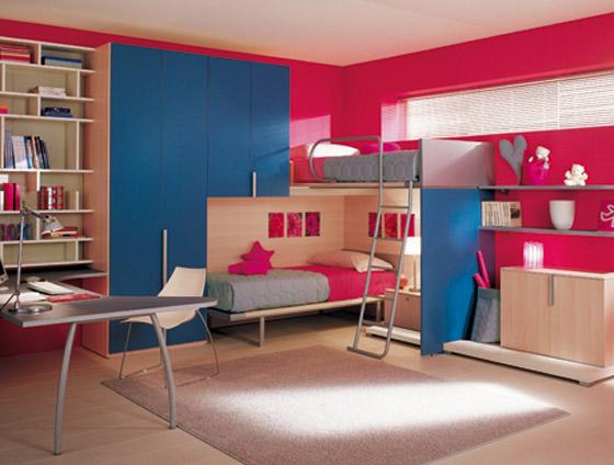 غرف نوم اطفال بالوان الصيف bed8.jpg