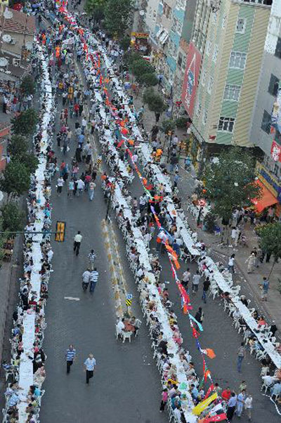 أكبر مائدة افطار بالعالم وجبة افطار كبيرة جدا في تركيا Turkey2