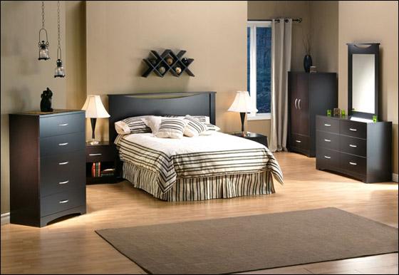 اجمل الديكورات للون الاسود في غرف النوم Bed11