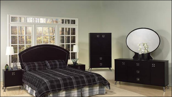 اجمل الديكورات للون الاسود في غرف النوم Bed2