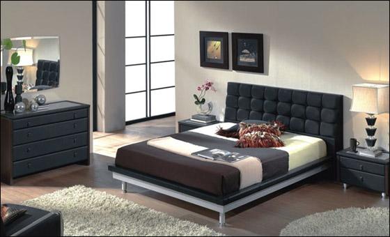 اجمل الديكورات للون الاسود في غرف النوم Bed3