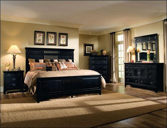 اجمل الديكورات للون الاسود في غرف النوم Bed4