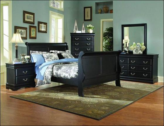 اجمل الديكورات للون الاسود في غرف النوم Bed5