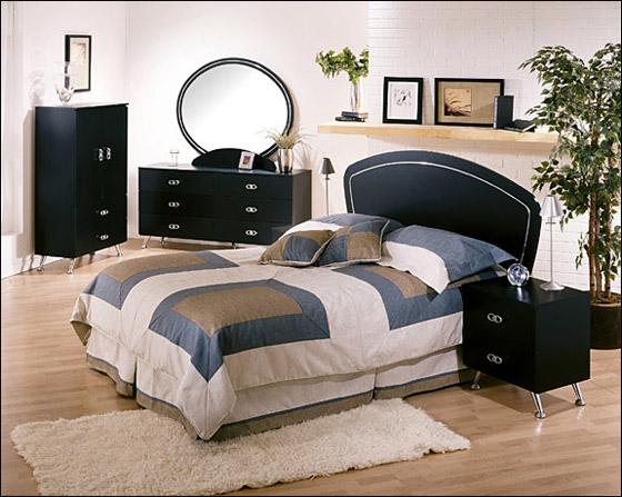 اجمل الديكورات للون الاسود في غرف النوم Bed6