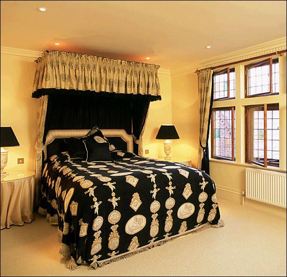 اجمل الديكورات للون الاسود في غرف النوم Bed7