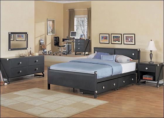 اجمل الديكورات للون الاسود في غرف النوم Bed8
