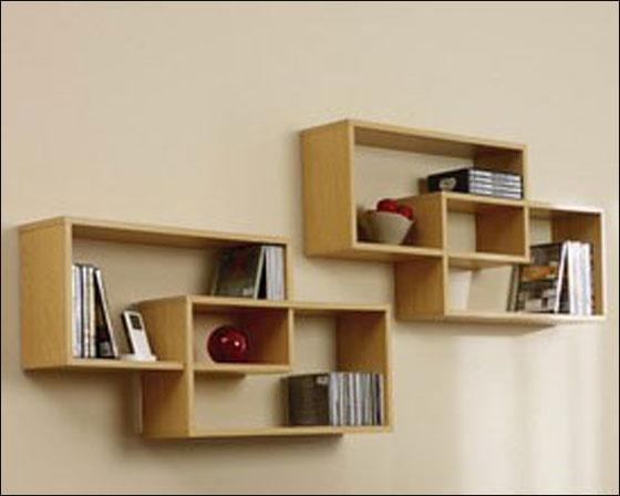Книжные полки на стене своими руками