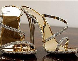 أغلى حذاء في العالم مرصع بالذهب والماس!!