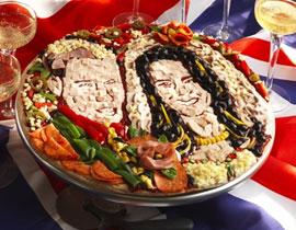 لمحبي البيتزا: بيتزا على شكل صورة الامير وليام وخطيبته!