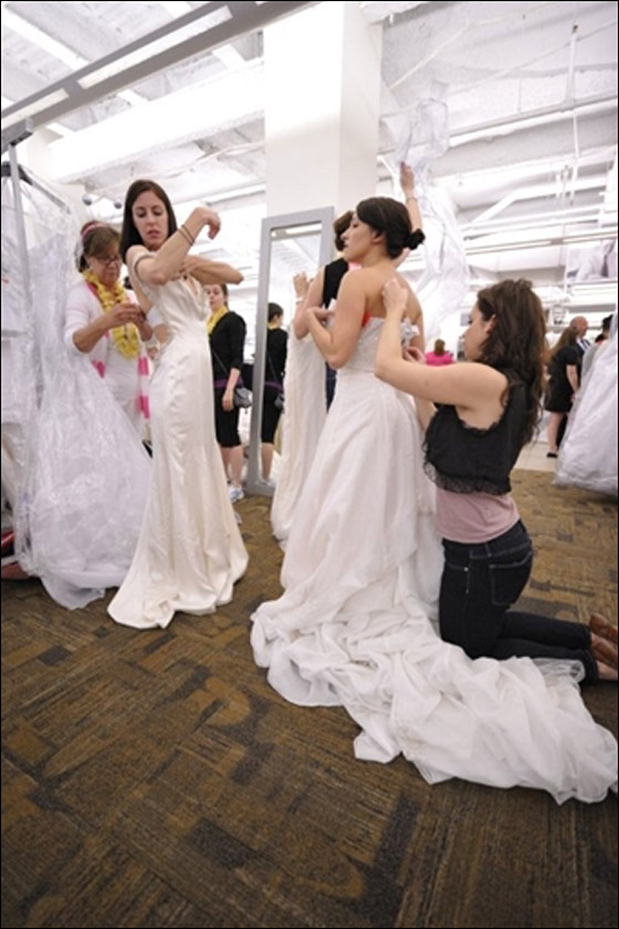 Thread running of the brides
