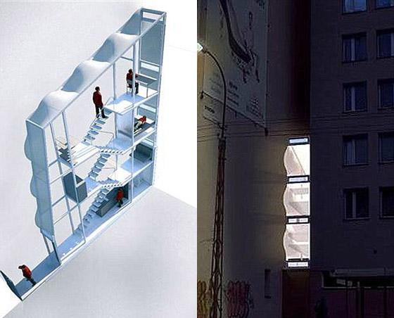 بالصور: بولندي يبتكر اضيق منزل في العالم بعرض متر ونصف!