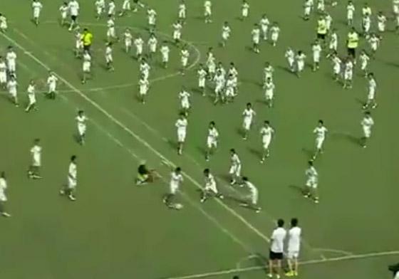 فريق ريال مدريد يحقق فوزا كبيرا على 109 طفل صيني!