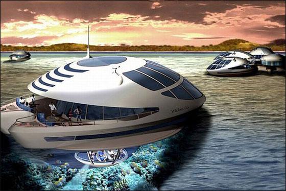 """قطر: بناء """"امفيبيوس 1000"""" وهو منتجع مغمور جزئيا بمياه البحر!  Qater6"""