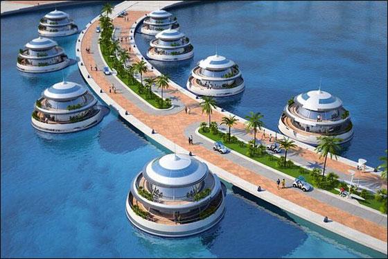 """قطر: بناء """"امفيبيوس 1000"""" وهو منتجع مغمور جزئيا بمياه البحر!  Qater9"""