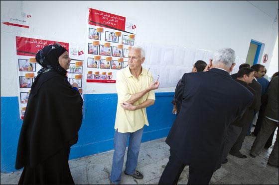 التونسين ينتخبون انتخابات الانتخابات التاريخية التونسية