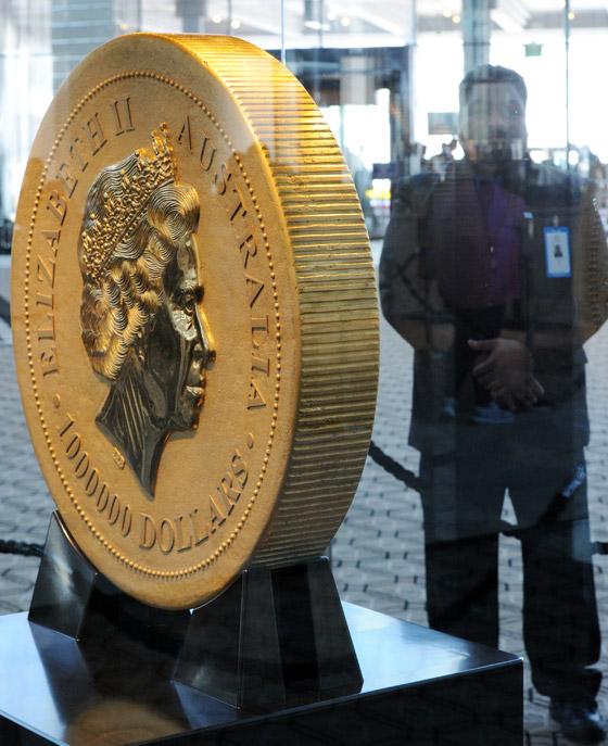 40 مليون يورو لقطعة نقدية تزن طن و12 كغم!