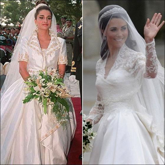كيت ميدلتون تتفوق على الملكة رانيا بالاناقة لعام 2011!