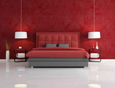 غرف نوم باللوم الاحمر.. صرخة جديدة في عالم الديكور ~ مدونةإلياس