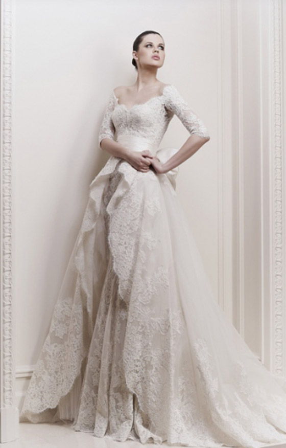 اجمل فساتين الزفاف لهذا الموسم من تصميم المبدع زهير مراد!