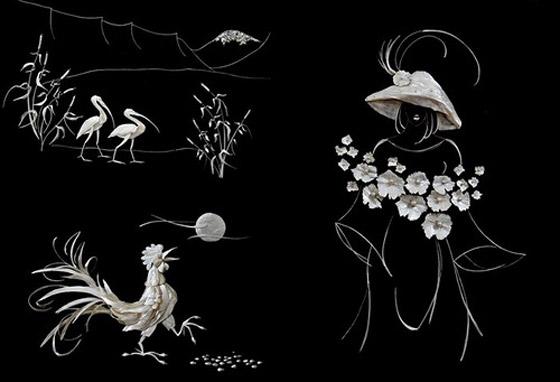 بالصور.. فنانة ترسم اجمل اللوحات باستخدام قشور وبقايا الاسماك Fishy_Paints_10