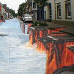 شوارع تتحول للوحات فنية تخدع البصر