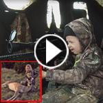 فيديو مثير.. شاهد حركات الصيادة الطفلة لدى اقتناصها غزالا