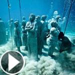 بالفيديو والصور.. افتتاح أول متحف تماثيل تحت الماء في أوروبا