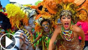 فيديو كرنفال سنوي في كولومبيا: رقص ومسيرات وثياب ملونة