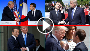 ترامب عن ماكرون: شخص قوي وذكي ويحب ان يمسك يدي!!