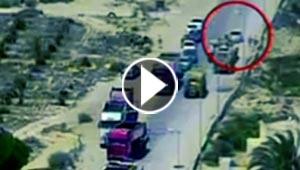 شاهد لحظة تصدي جندي مصري لسيارة مفخخة ومنع كارثة في سيناء