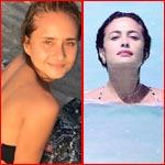 هند صبري تنافس نيللي كريم وتنشر صورها بالمايوه في البحر!