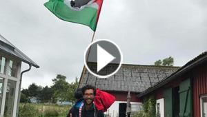 بالفيديو والصور.. يهودي سيعبر 8 دول و5 آلاف كيلومتر مشياً على الأقدام للتضامن مع فلسطين