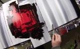 اللوحة مجردة رسم بطريقة الدهان