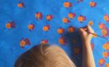 فن الرسم بألوان مائية لأبن أربع سنوات