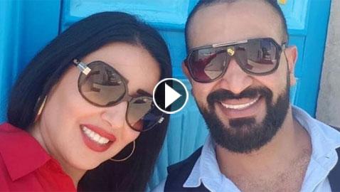 رسميا.. زواج المطرب أحمد سعد من الفنانة المصرية سمية الخشاب
