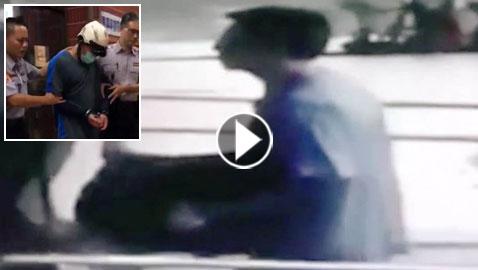 فيديو صادم.. أب يدخل مركز شرطة حاملا جثة رضيعته